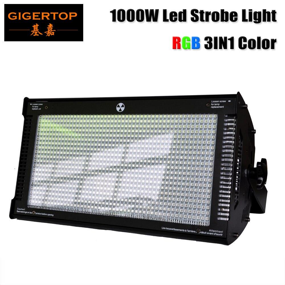 Gigertop 1000 w Cree LED lumière stroboscopique pour dj disco party flash lumière pour stage club lumière RGB Couleur De Mélange blinder Effet