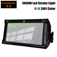 Gigertop 1000W Cree LED strobe light for dj disco party flash light for stage club light RGB Color Mixing Blinder Effect