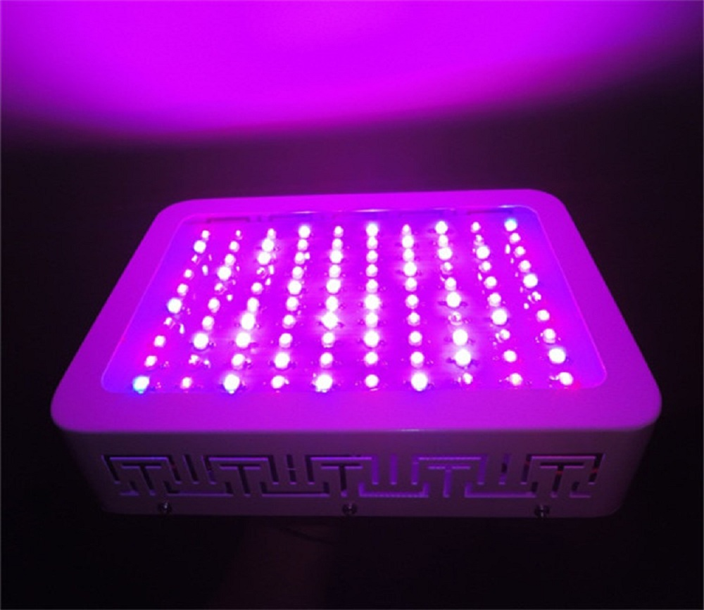 led grow light 100w full spectrum r b w o uv ir for indoor greenhouse medical plants in led grow. Black Bedroom Furniture Sets. Home Design Ideas