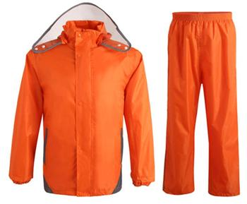 Reflective waterproof Oxford cloth raincoat rain pants suit adult double layer single person men and women raincoats