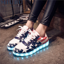 MIUBU LED Shoes For Adults Casual Unisex Women Luminous 2017 Plus Size Light Up Lovers X548