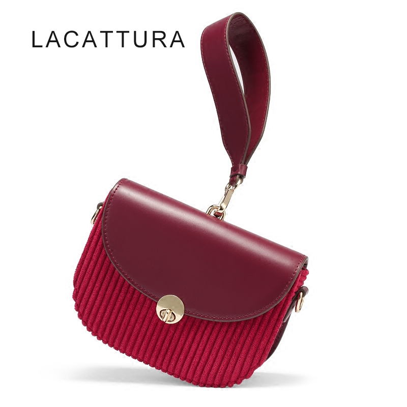 LACATTURA 2017 New It Bag Luxury Brand Design Handbag High Quality Women Messenger Bag Vintage Small Saddle Bag Christmas Gift new vintage luxury brand design 100
