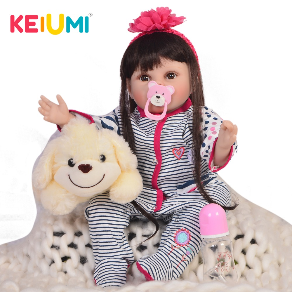 KEIUMI Lifelike 22 55 cm Reborn Dolls Soft Silicone Stuffed Body Fashion Baby Doll Toys For Kids Christmas Gifts Best PlaymateKEIUMI Lifelike 22 55 cm Reborn Dolls Soft Silicone Stuffed Body Fashion Baby Doll Toys For Kids Christmas Gifts Best Playmate