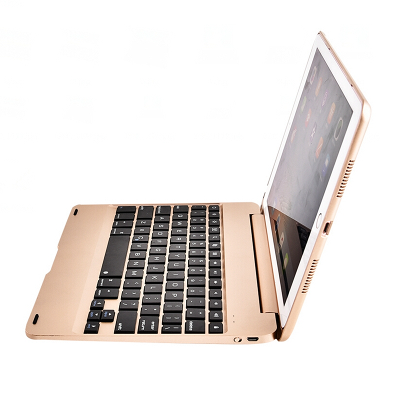 For Apple Ipad Air 2/Ipad 6 Cases With Keyboard Design Wireless Bluetooth With Stand Protective Cover Luxury ABS plastic