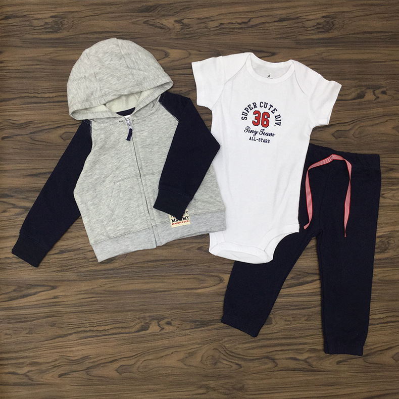 Infant Baby Clothing Sets  Newborn Baby Girl Boy Clothes Romper +pants+Hoodies 3Pcs Suits Baby Girls Clothes winter infant kids baby boy girl clothes sets costume newborn baby clothing sets toddler bebes outfits pajamas wear sport suits