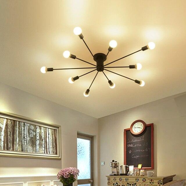 € 49.65 33% de DESCUENTO|Negro Retro Vintage luces de techo cocina  accesorios para salón comedor restaurante café lámpara luminaria interior  ...