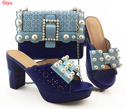 doershow Italian Shoe with Matching Bags Shoe and Bag Set for Party In Women Italian Matching Shoe and Bag Set with blue!HVC1-45doershow Italian Shoe with Matching Bags Shoe and Bag Set for Party In Women Italian Matching Shoe and Bag Set with blue!HVC1-45