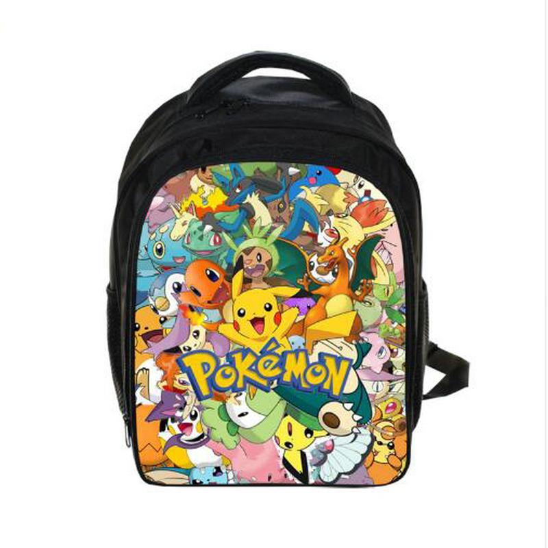 Anime Pokemon Backpack Pikacun Students School Bags Boys Girls Daily Backpacks Children Bag Kids Schoolbags Best Gift Backpack