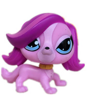 toys Pet Shop Animal Lovely purple dog Figure Doll Child Toy FREE SHIPPING 2444