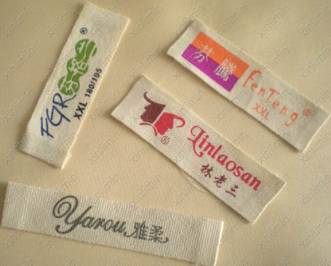 Custom Clothing Tags Cotton Tape Printing Label Printed