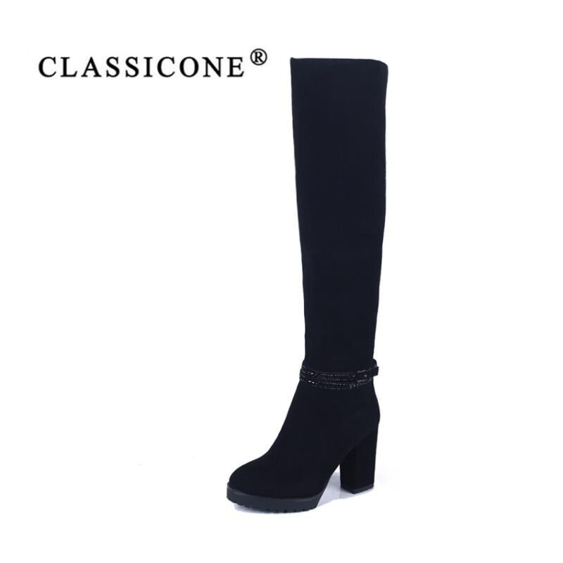 25ff7b2ccc7238 En Semelle Pas Noir Bottes L'intérieur Femme Chaussures Haute Mode Pompes  Hauts Véritable De Classicone Chaud Glissante Cuir À Est Laine Talons Hiver  ...