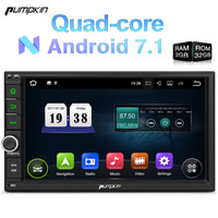 Pumpkin 2 Din Android 7.1 Universal Car Radio No DVD Player GPS Navigation Quad Core Car Stereo Touch Screen Wifi OBD2 Headunit