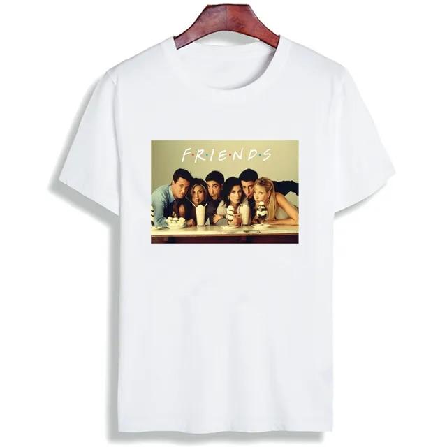 T-Shirt Women Top New Harajuku Summer Fashion Casual Friends TV Printed Kawaii Vogue Best Friends Shirts Tee Tops Ladies Clothes