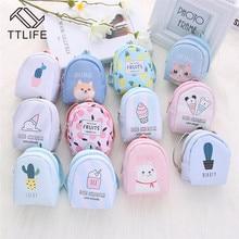 TTLIFE мультяшный мини-рюкзак с принтом кота, портмоне, ключи, держатель для карт, кошелек, деньги, сумки, наушники, посылка, для женщин, девочек, подарки для детей