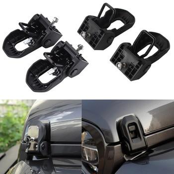 Nuevo capó del motor cerradura soporte cerraduras titular atrapar Anti-robo llave Metal ABS para Jeep Wrangler JL Coche accesorios