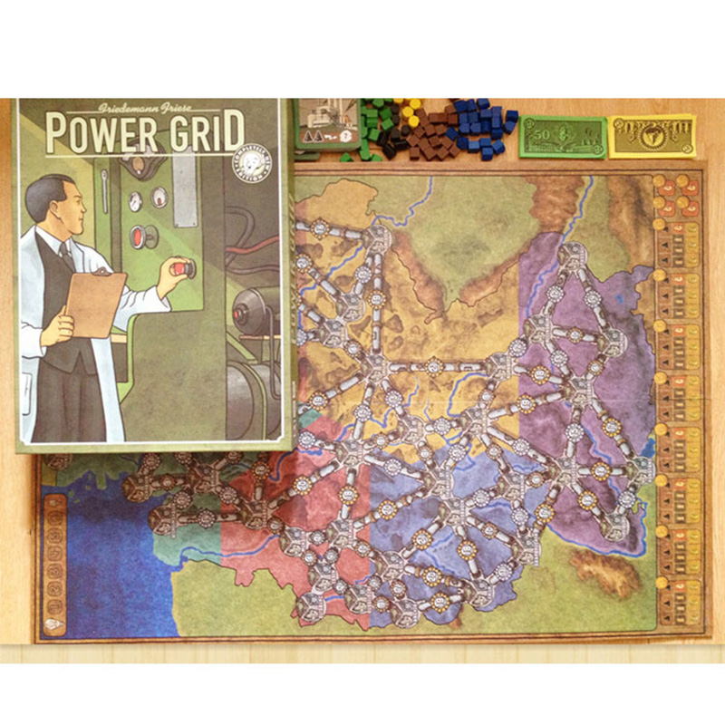 power grid board game english verison basisexpand cards game germany united states map with english instructions in board games from sports