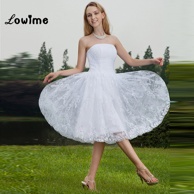 Sexy Cheap Short White Lace Prom Dress For Teens Graduation Knee ...