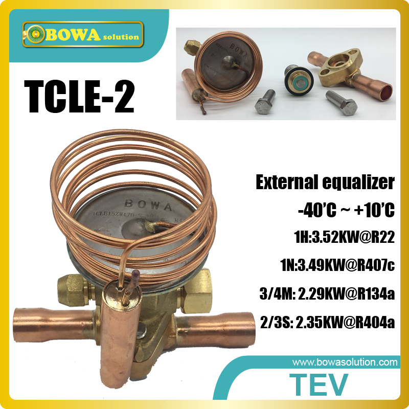 1RT cooling capacity thermostatic expansion valve replace Saginomiya QCX and RCX expansion valve
