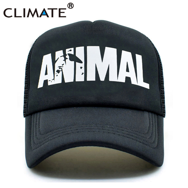 470a7b59789 CLIMATE Animal GYM Cap Trucker Caps Men Animal Cap Fitness Fans Print Mesh  Hat Body Building