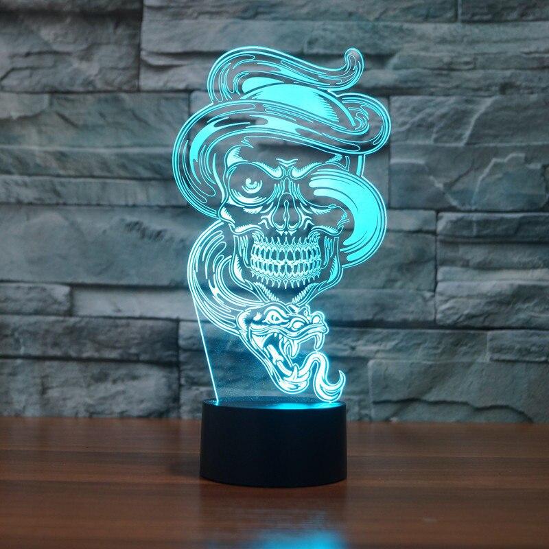 Schmetterling Serie Acryl Panel Design 3D LED Nachtlicht Illusion TischlampeRY
