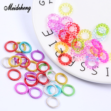 Meideheng Acrylic Circle Beads Transparent/Electroplating Slime Crystal Mud Filler Ornament Accessories For Hair Ring Needlework meideheng acrylic circle beads transparent electroplating slime crystal mud filler ornament accessories for hair ring needlework