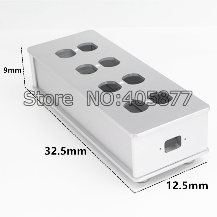 Viborg HIFI US AC Power Strip Bar Distributor Aluminum 6 Outlet Box HIFI Chassis silver ls601 silver multifuction outlet power