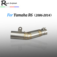 YZF R6 Motorcycle Exhaust Pipe for YAMAHA R6 YZF R6 2006 2014 Moto Escape R6 Motorcycle Muffler Echappement Moto middle pipe
