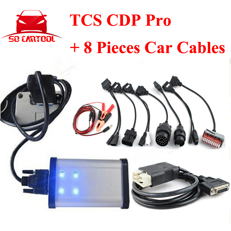 2015.3 Software Free Keygen New vci Auto TCS CDP Pro With Bluetooth Diagnostic Tool + Full 8pcs Car Cables by DHL Free
