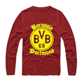 BVB Borussia Dortmund  Mens T-shirt 2017 Novelty Long Sleeve O Neck Cotton Tee
