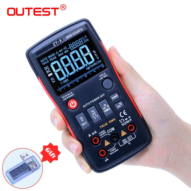 ZT-X esr Transistor Tester rm multimetro Medidor Elétrico Multímetro Digital True RMS 409b Volt Amp Ohm Tester multimetr
