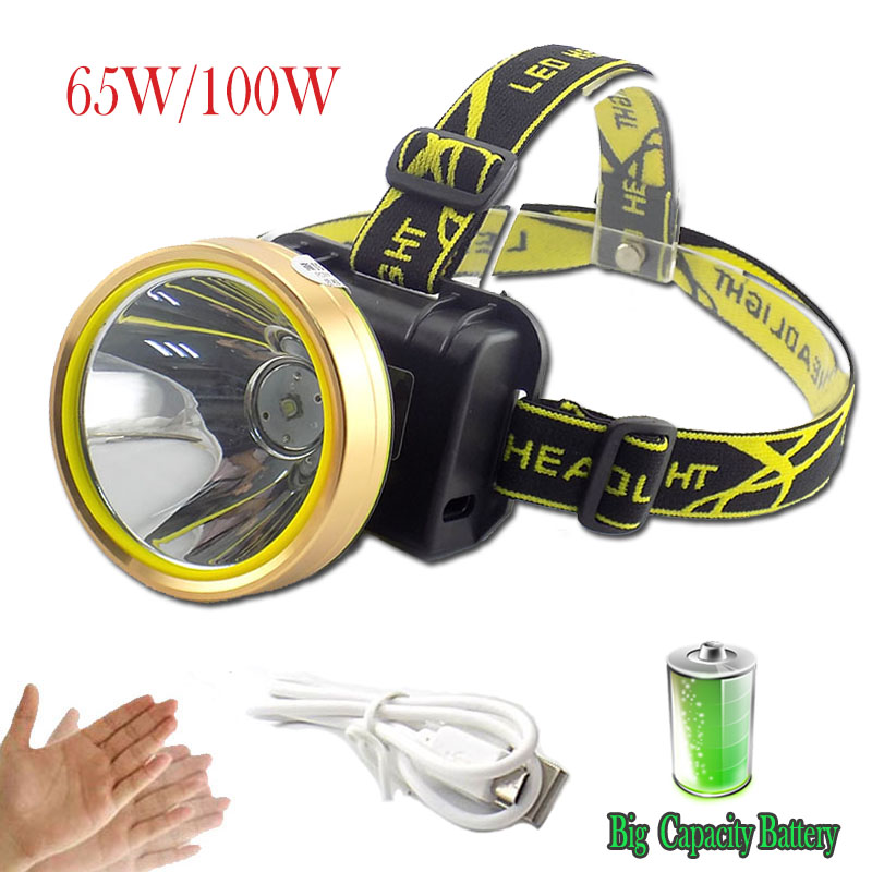 T6 LED Powerful Sensor Headlamp Rechargeable Headlight Usb Charging Frontal Head Searchlight Torch Flashlight Built-in Battery цена
