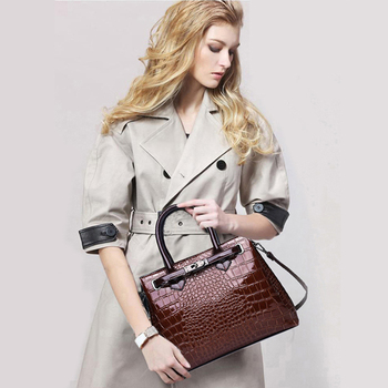 Women\'s bag luxury brand designer high quality classic crocodile pattern handbag 4