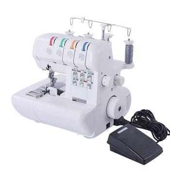Многофункциональный бытовой ручной швейной машинки 110V/220V оверлок швейная машина ручной инструмент краеобметочная машина с 2/3/4 нить