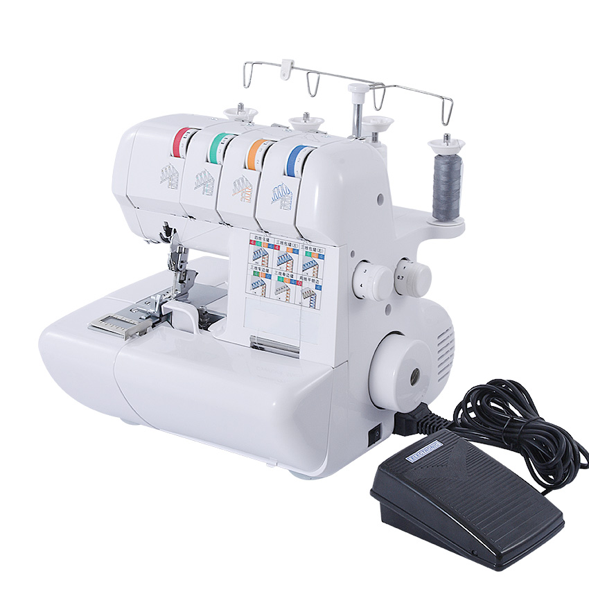 Multifunction Household Manual Sewing Machine 110V/220V Overlock Sewing Machine Hand Tools Overedger With 2/3/4 Thread maquina de coser de mano