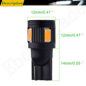 Image 3 - T10 W5W t 10 5w5 194 SMD Car Led Light Auto Interior Reading Clearance Side Wedge Bulb Lamp Yellow Orange Amber 12V Accessories