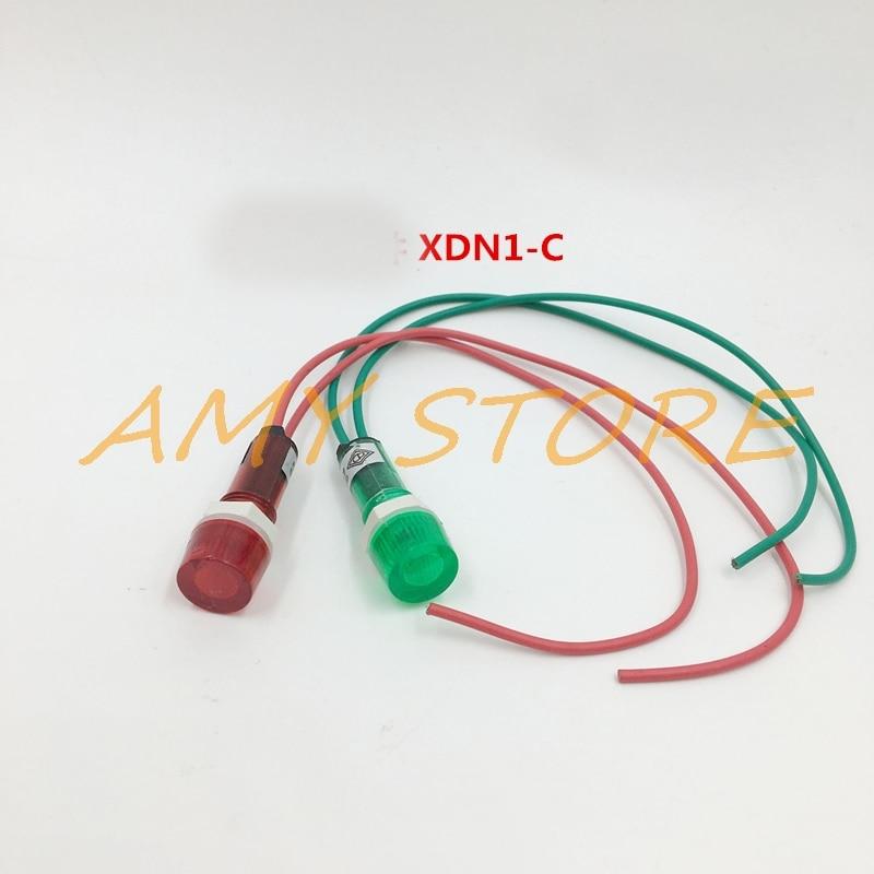 10pcs 24V DC 10mm Yellow Power Indicator Signal Light XD10-3