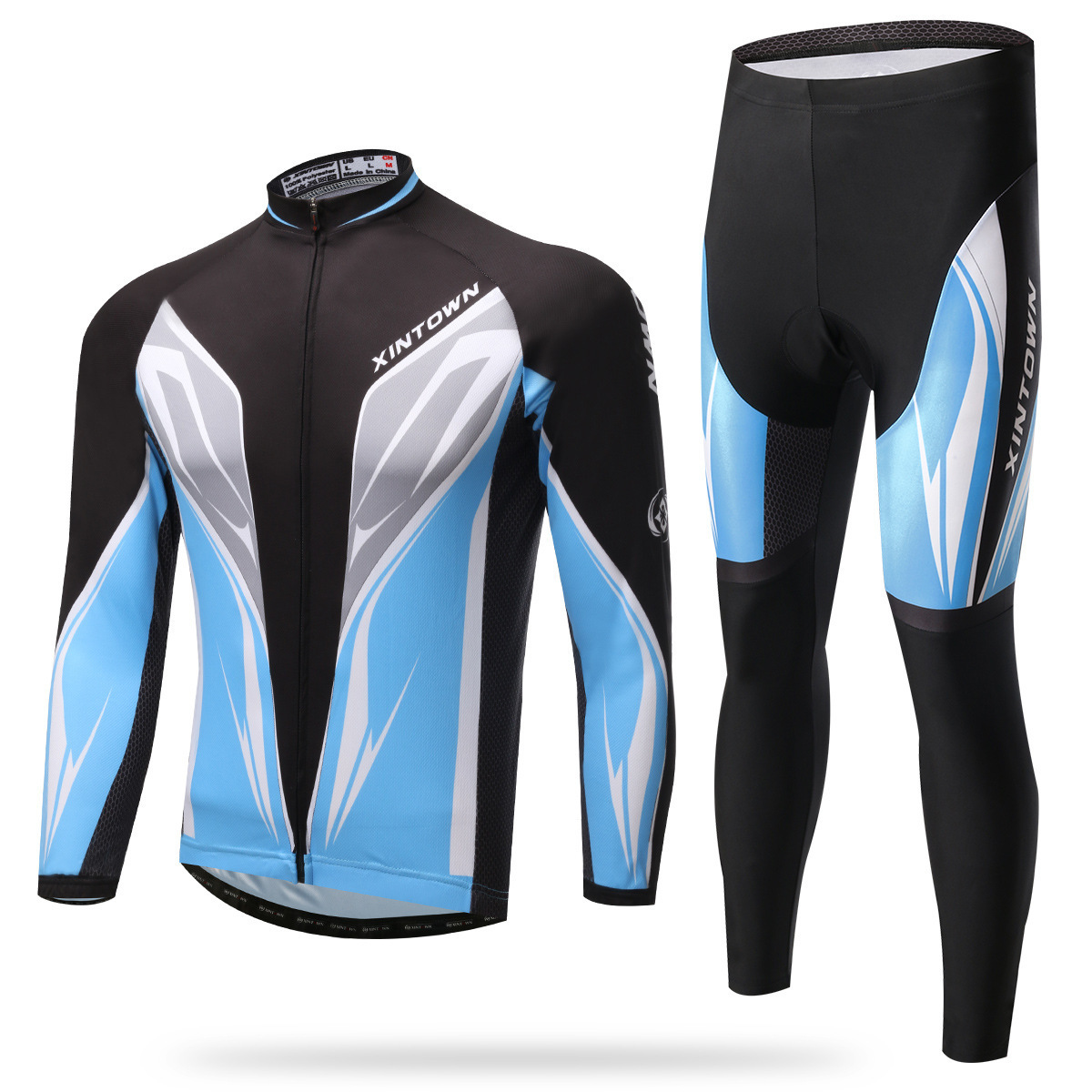XINTOWN Pro Team Cycling Jersey Set Long Sleeve Bicycle Bike Clothing Ropa Ciclismo Cycling Cothing Set Spring Autumn Pockets veobike winter thermal brand pro team cycling jersey set long sleeve bicycle bike cloth cycle pantalones ropa ciclismo invierno