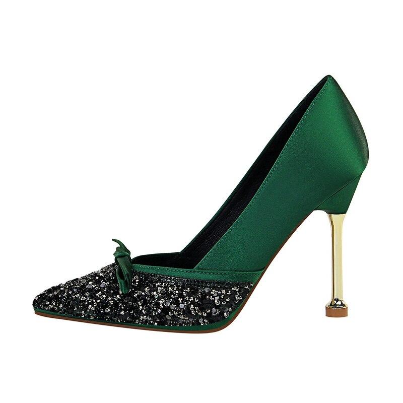 UMMEWALO High Heels Shoes Women Bling Design Pointed Toe Pumps Women Super High Shoes Ladies Shoes New Arrival