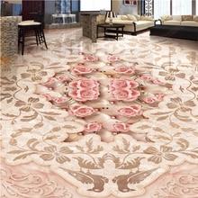 beibehang wall papers home decor Luxury European villa stone 3D papier peint mural 3d floor tiles self adhesive wallpaper