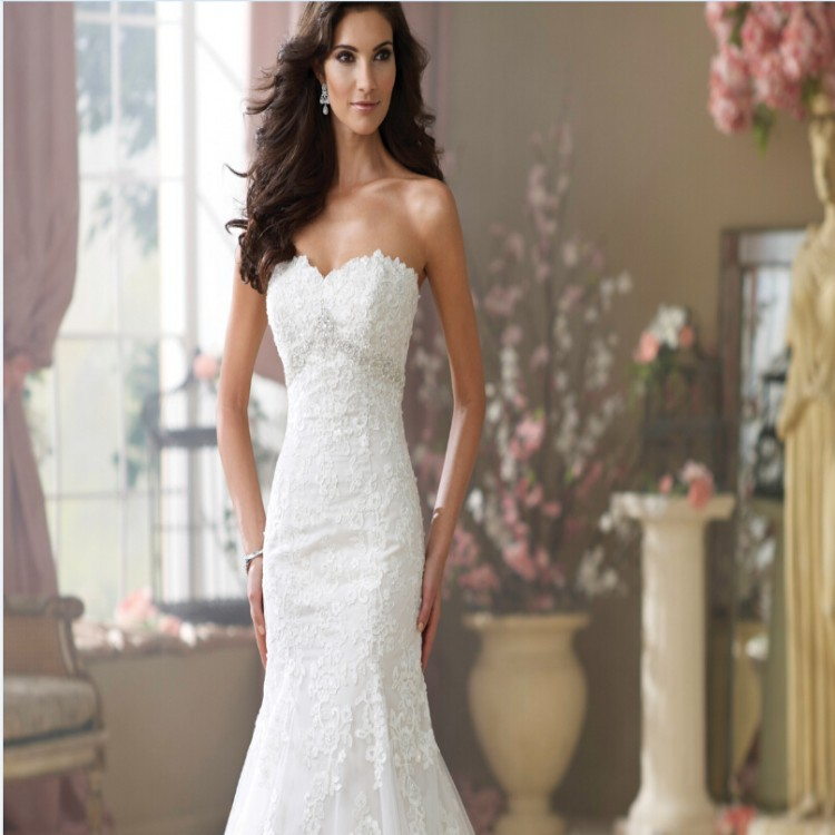 Women\'s Vestido De Novia Elegant Sweetheart White Lace Sexy Low ...