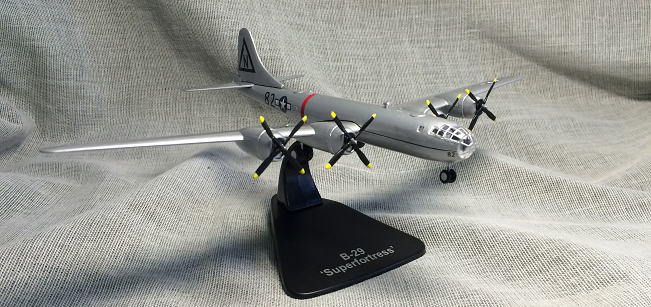 rare ATLAS 1/144 World War II US Air Force B-29 strategic bomber model The first atomic bomb carrier Alloy aircraft model ae 75006 1 24 world war ii us marine corps stretcher squad