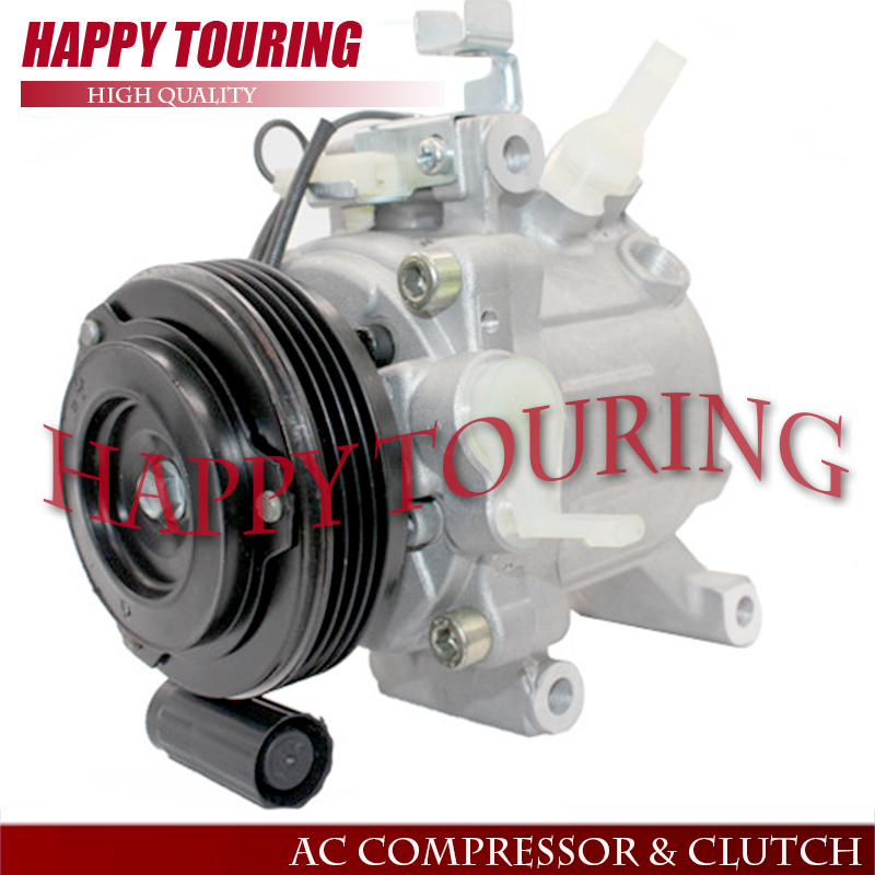 SV07C AC Compressor for Toyota Passo Daihatsu Terios/Boon/Sirion Subaru Justy 447190-6620 88310-B1070 447260-5054 Clutch 4PK high quality auto air conditioning compressor sc06e pv4 for daihatsu for car toyota terios ac compressor with clutch