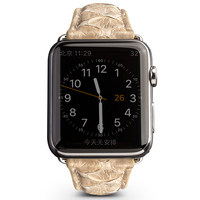 QIALINO Luxury Genuine Leather Snakeskin Watch Strap Band For Apple Iwatch Series 3 Series 2 Series