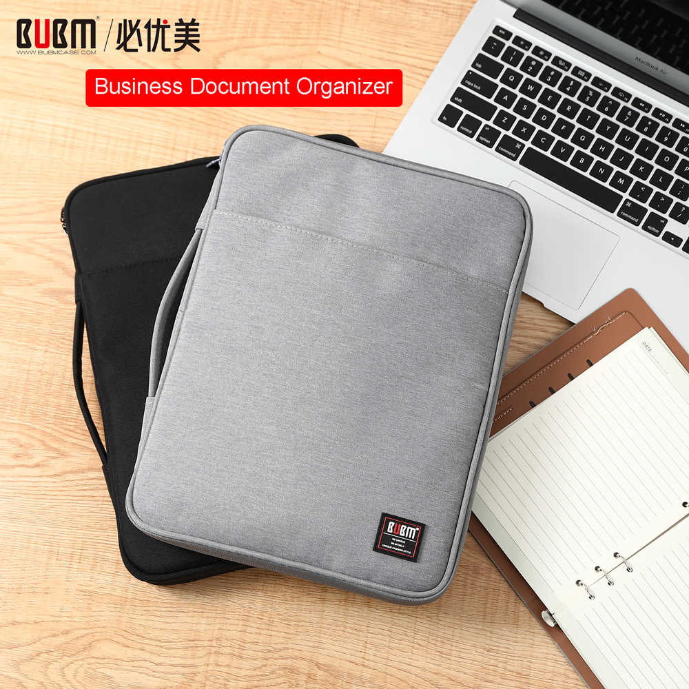 "BUBM Laptop Portfolio Organizer Case, Business Conference Folder Document Organizer Holder Laptop Sleeve Bag for 13"" Macbook"