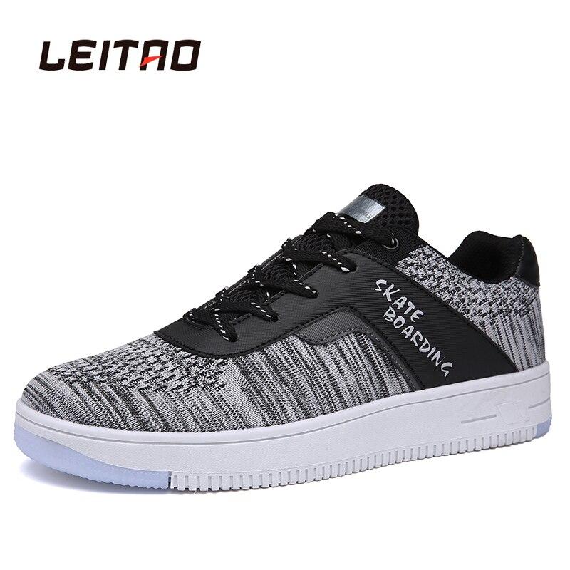 Prix pour LEITAO Planche À Roulettes Sneakers Low Top Haute Qualité Chaussures Pour Hommes Respirant Bas Printemps Et D'été Outoor Sport Chaussures Zapatillas