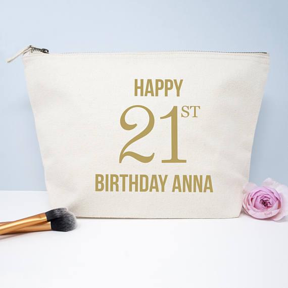 Bolsa de nombre de cumpleaños personalizada para dama de honor regalo de boda maquillaje bolsas de cosméticos monederos regalo único para bolsas de fiesta nupcial