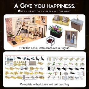 Image 5 - Cutebee أثاث بيت الدمية دمية مصغرة لتقوم بها بنفسك صندوق غرفة منزل مصغر مسرح لعب للأطفال Casa لتقوم بها بنفسك دمية P