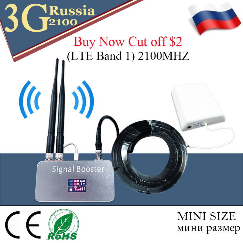 Russia (LTE Band 1) 2100 UMTS Mobile Signal Booster 3G 2100MHz UMTS Cellular  Signal Repeater Cell Phone WCDMA Amplifier