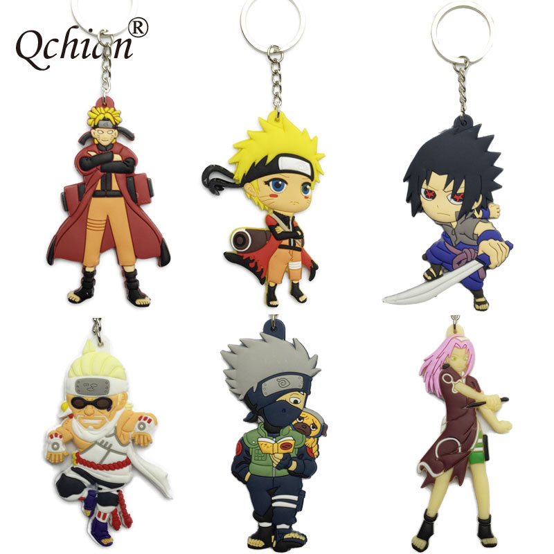 Luggage Personality Tag Naruto Silicone Double-sided Decorative Pendant Keychain very beautiful Gift