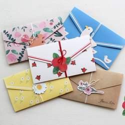 2 шт./компл. Kawaii Набор открыток растения птица цветы для свадьбы письмо Приглашения подарочная карта конверт Складной Стационарный Бумага